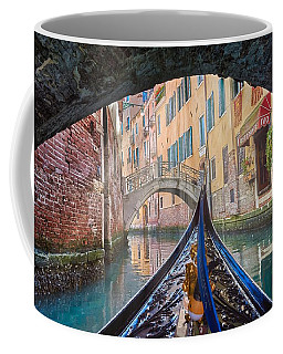 Journey Through Dreams - A Ride On The Canals Of Venice, Italy Coffee Mug