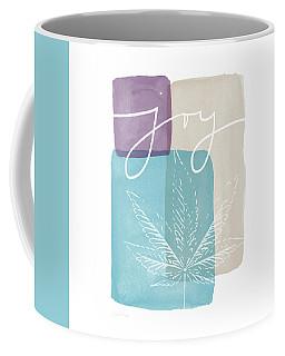 Coffee Mug featuring the mixed media Joy Cannabis Leaf Watercolor- Art By Linda Woods by Linda Woods