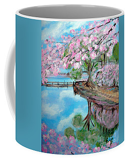 Joy Of Spring. Acrylic Painting For Sale Coffee Mug