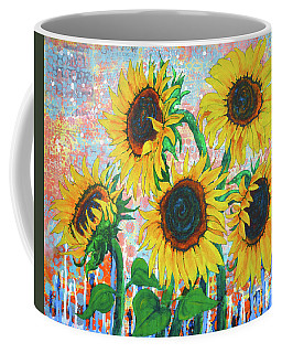 Joy Of Sunflowers Desiring Coffee Mug