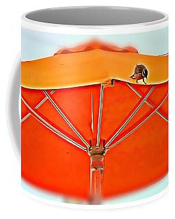 Coffee Mug featuring the digital art Joy On An Umbrella by Mindy Newman
