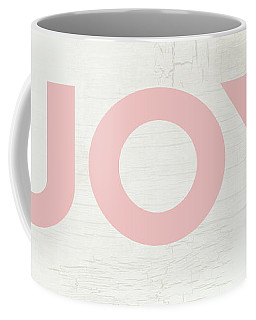 Joy Sign Pink- Art By Linda Woods Coffee Mug