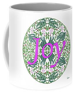 Coffee Mug featuring the digital art Joy With Purple Flowers by Lise Winne