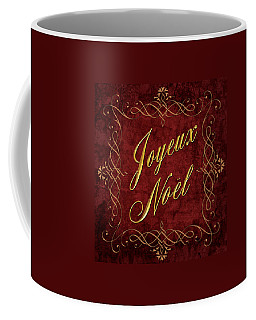Joyeux Noel In Red And Gold Coffee Mug