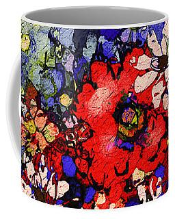Coffee Mug featuring the painting Joyful Flowers by Natalie Holland
