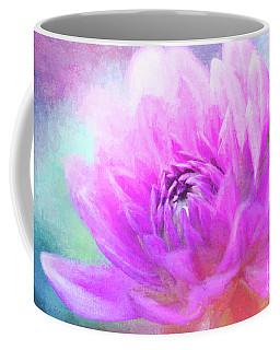 Joyful Painted Pink Dahlia Coffee Mug