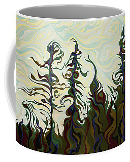 Joyful Pines, Whispering Lines Coffee Mug