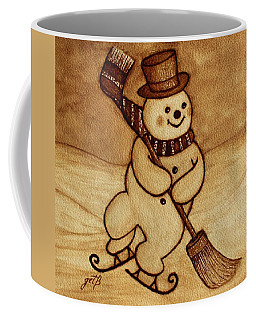 Joyful Snowman  Coffee Paintings Coffee Mug