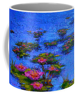 Coffee Mug featuring the painting Joyful State - Modern Impressionistic Art - Palette Knife Landscape Painting by Patricia Awapara