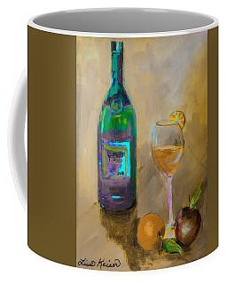Joyous Champagne Orange Painting Coffee Mug by Lisa Kaiser