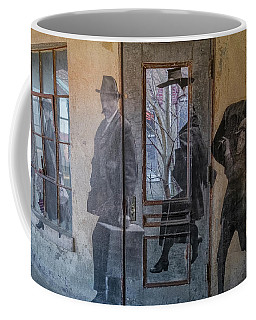 Coffee Mug featuring the photograph Jr In The Hallway by Tom Singleton