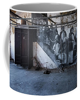 Coffee Mug featuring the photograph Jr On The Stairs by Tom Singleton