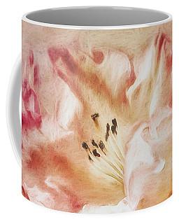 Jubilee Blush Coffee Mug by Jean OKeeffe Macro Abundance Art