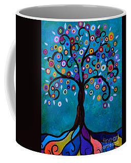 Coffee Mug featuring the painting Juju's Tree by Pristine Cartera Turkus