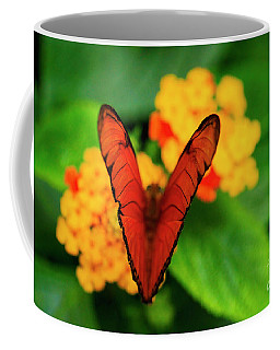 Coffee Mug featuring the photograph Julia Butterfly, Dryas Iulia by Ralph A Ledergerber-Photography