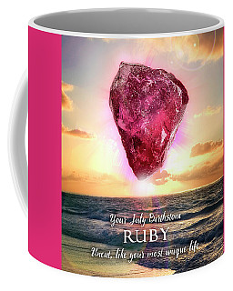 July Birthstone Ruby Coffee Mug