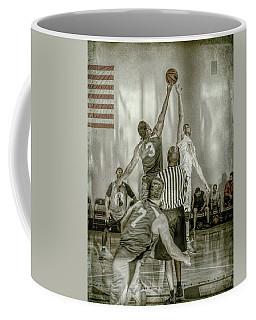 Coffee Mug featuring the photograph Jump Ball by Ronald Santini
