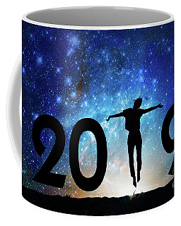 Jump New Year Card Coffee Mug