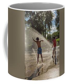Jumping In Water Streams Coffee Mug