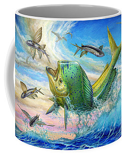 Jumping Mahi Mahi And Flyingfish Coffee Mug