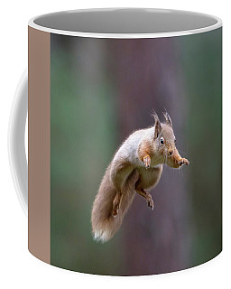 Jumping Red Squirrel Coffee Mug