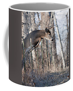Jumping White-tail Buck Coffee Mug