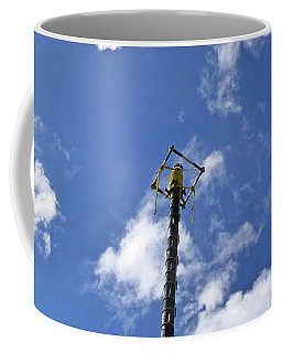 Coffee Mug featuring the photograph Jungle Bungee Tower by Francesca Mackenney