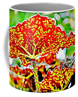 Coffee Mug featuring the photograph Jungle Leaf by Mindy Newman