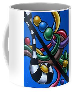 Original Colorful Abstract Art Painting - Multicolored Chromatic Artwork Painting Coffee Mug