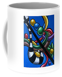 Original Colorful Abstract Art Painting - Multicolored Chromatic Artwork Painting Coffee Mug