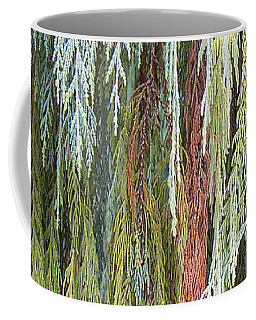 Coffee Mug featuring the photograph Juniper Leaves - Shades Of Green by Ben and Raisa Gertsberg