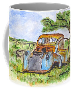Junk Car And Tree Coffee Mug