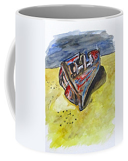 Coffee Mug featuring the painting Junk Fishing Boat by Clyde J Kell