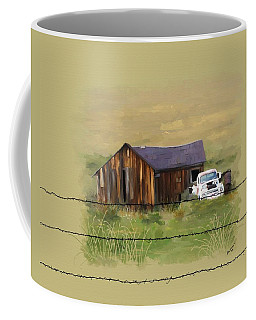 Coffee Mug featuring the painting Junk Truck by Susan Kinney
