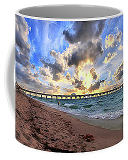 Juno Beach Pier Florida Sunrise Seascape D7 3 Coffee Mug