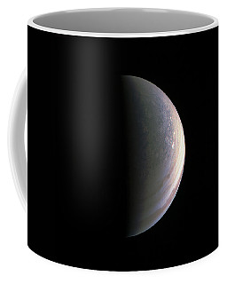 Coffee Mug featuring the photograph Juno Closing In On Jupiter's North Pole by Nasa