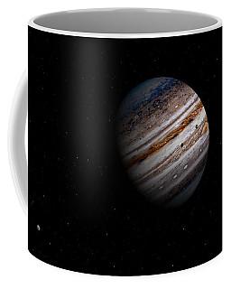 Jupiter And It 4 Major Moons Coffee Mug