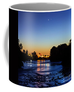 Jupiter And Venus Over The Willamette River In Eugene Oregon Coffee Mug