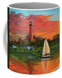 Jupiter Lighthouse Sunrise Alt Coffee Mug