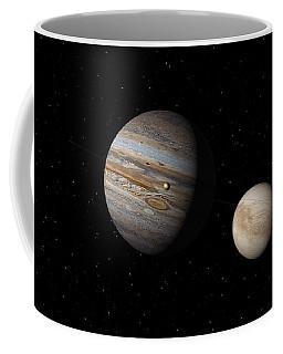 Jupiter With Io And Europa Coffee Mug