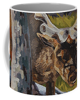 Coffee Mug featuring the painting Just A Peek by Erin Fickert-Rowland