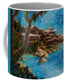 Coffee Mug featuring the painting Just Before Dawn by Matt Konar
