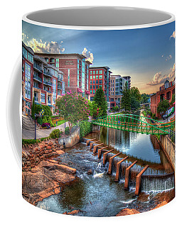 Just Before Sunset 2 Reedy River Falls Park Greenville South Carolina Art Coffee Mug