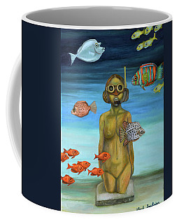 Coffee Mug featuring the painting Just Breathe by Leah Saulnier The Painting Maniac