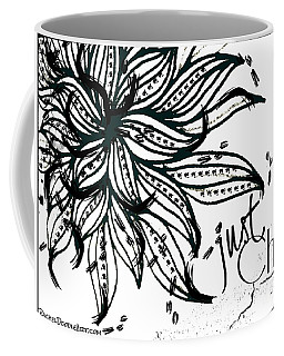 Coffee Mug featuring the drawing Just Chill by Rachel Maynard