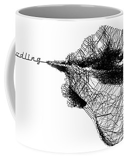 Coffee Mug featuring the digital art Just Doodling by ISAW Company