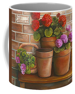 Just Geraniums Coffee Mug by Marlene Book