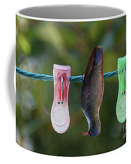 Coffee Mug featuring the photograph Just Hanging With The Pins by John Kolenberg