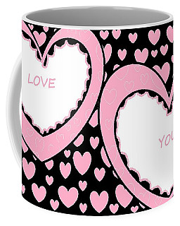Just Hearts 2 Coffee Mug by Linda Velasquez