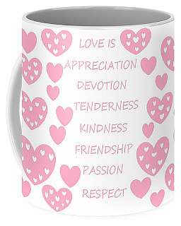 Just Hearts 3 Coffee Mug by Linda Velasquez